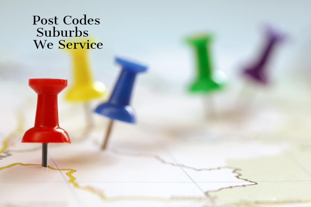 Postcodes Suburbs We Service